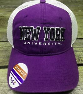 3e4f81ac26b Image is loading New-York-University-NYU-Purple-White-Mesh-Embroidery-