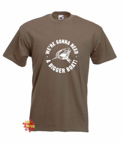 Rachen Inspiriert Kultfilm Shark T-Shirt We/'Re Gonna Need A Bigger Boot