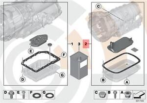 Details about Genuine BMW E39 E46 Automatic Transmission Fluid Filter Kit  OEM 24152333824