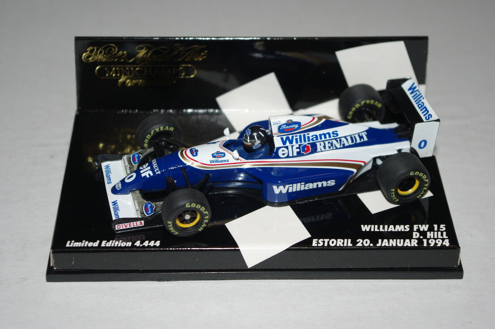 Minichamps F1 1 43 WILLIAMS RENAULT FW15 Damon HILL Estoril 1994 LTD ED.