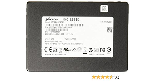 "Micron 1100 2048GB  2TB SSD SATA 2.5"" MTFDDAK2T0TBN-1AR1ZABYY"