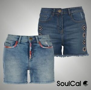Ladies-Branded-SoulCal-Summer-Stylish-Embroidered-Shorts-Bottoms-Size-8-16