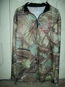 new concept 9378f 51d7c Details about NEW Men's Chicago Bears Woodland Camo 1/4 zip Pullover Jacket  XLT XL Tall