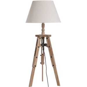 Details About Traditional Antique Style Brown Wood Tripod Table Desk Lamp H18557