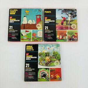 VTG-Gaf-Talking-View-Master-Reels-Charlie-Brown-s-Summer-Fun-It-039-s-a-Bird-Peanuts