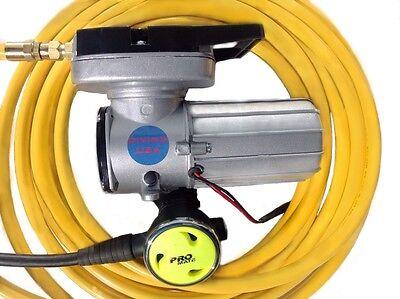 12v Electric Hookah DIVING KIT WITH REGULATOR gold dredge pool scuba snorkel
