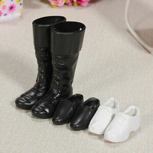 Fashion-Handmade-Cusp-Shoes-Boots-Sneakers-Set-For-Ken-Kids-Doll-New-E2Z2