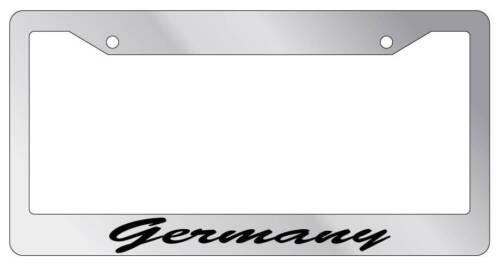Chrome License Plate Frame CURSIVE Germany Auto Accessory 1313