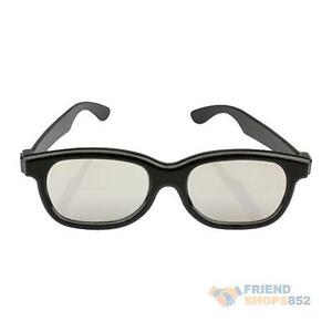 Polarized-3D-Glasses-Black-Movie-DVD-LCD-Video-Game-Theatre-Circular-F8s
