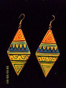 cdb4e1e1f08d La imagen se está cargando Tribal-Azteca-Pintado-A-Mano-Africana-diseno- etnico-