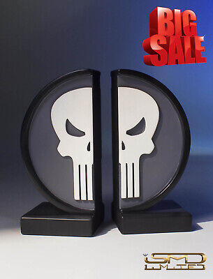 Certified Numbered Limited Edition Gentle Giant Marvel Punisher Logo Bookends