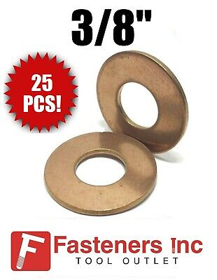 "Qty 25 3//8/"" Silicon Bronze Lock Washer Standard Split"