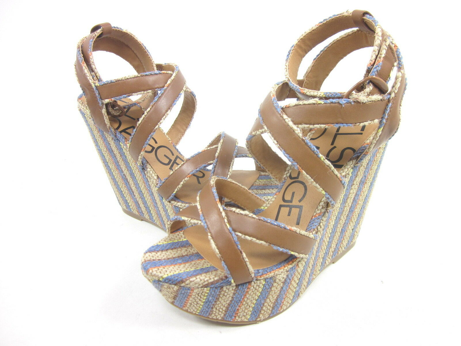 KELSI DAGGER, PAXTON WEDGE SANDAL, COBALT, Damenschuhe, US 10 M, BOX EURO 40, NEW IN BOX M, ea04bc