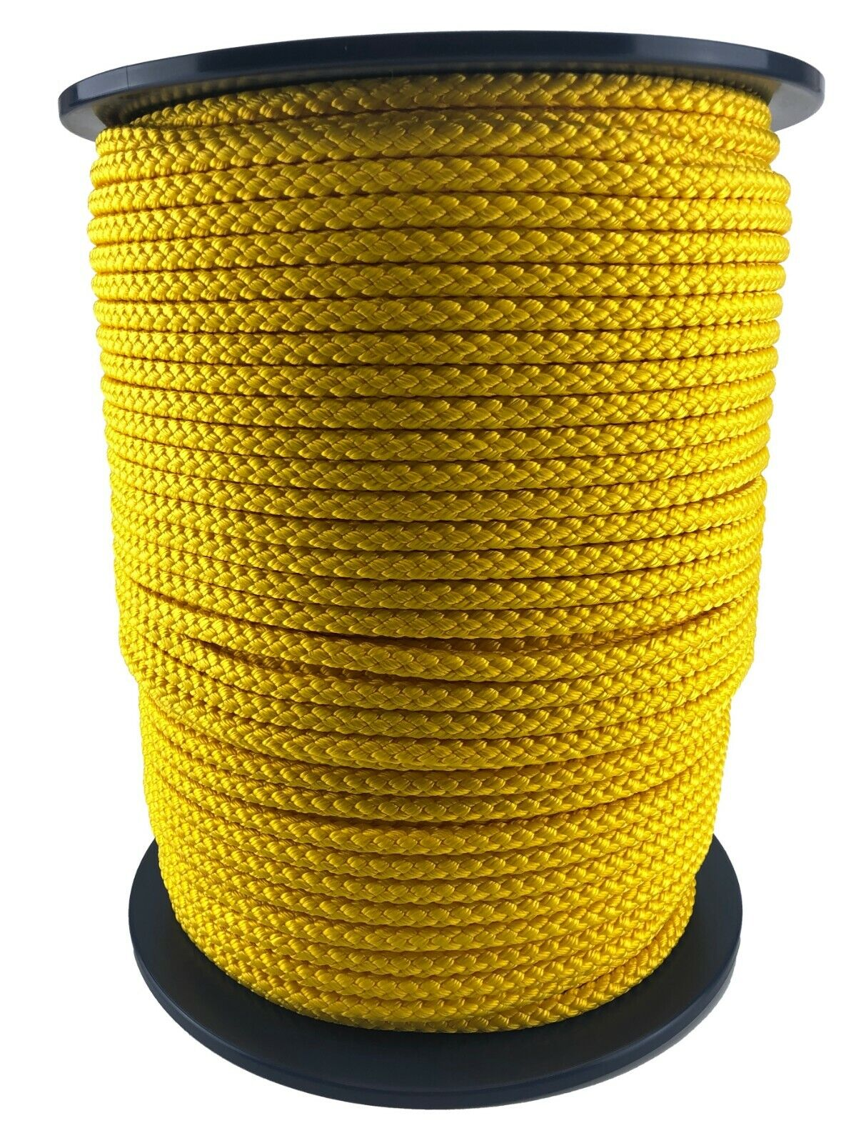 10mm Yellow Braided Polypropylene Rope x 75 Metres Poly Line Sailing Boating