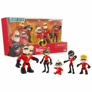 New-Incredibles-2-Junior-Supers-Family-Pack-5-Action-Figures-Official