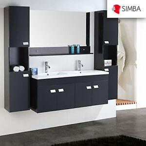 Detalles de Muebles para baño 120 cm para cuarto de baño con espejo baño  grifos Elegance