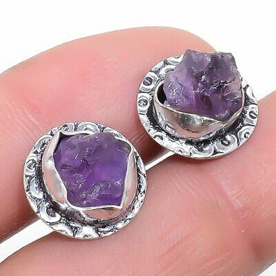 Se4491 Moderate Cost Earrings Steady Amethyst Rough Druzy Gemstone Fashion Jewelry Earring Stnd