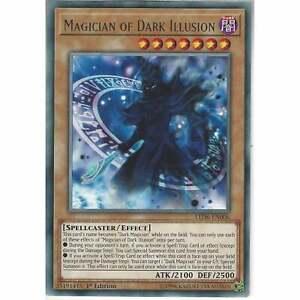LED6-EN006 Magician of Dark Illusion Rare 1st Edition Mint YuGiOh Card