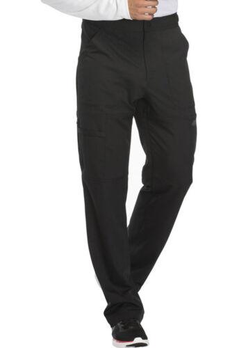 Black Dickies Scrubs Dynamix Mens Zip Fly Cargo Pants DK110 BLK