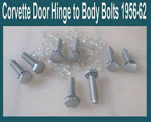 Corvette-1957-1958-1959-1960-1961-1956-1962-Door-Hinge-Bolts-To-Body-Original-8