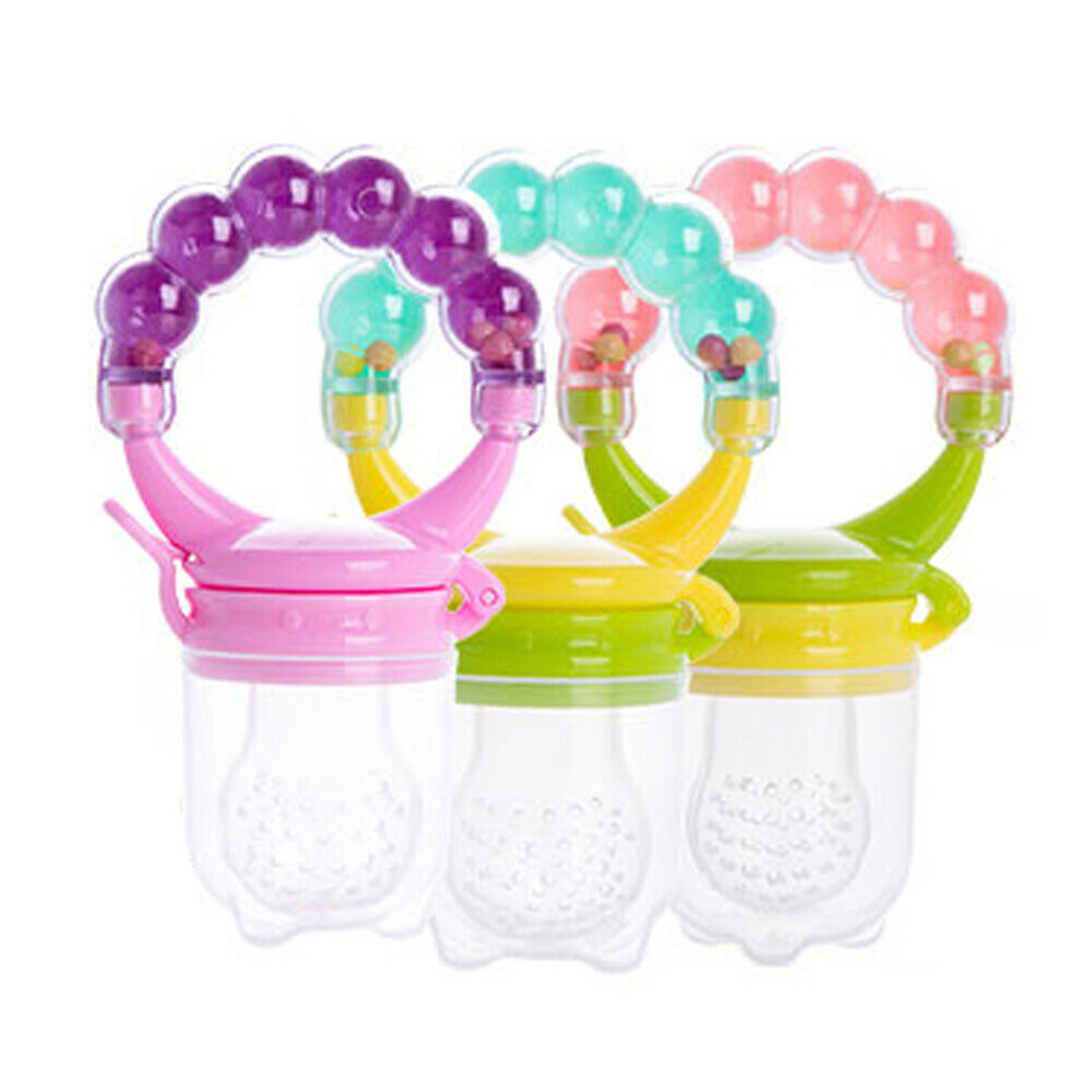 Baby Teether Fruit Feeder Infant Fresh Food Pacifier Silicone Teething Nibbler Baby