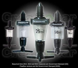 Beaumont-Solo-Pub-Spirit-Measures-Bar-Measure-Optics-25ml-35ml-50ml-CE