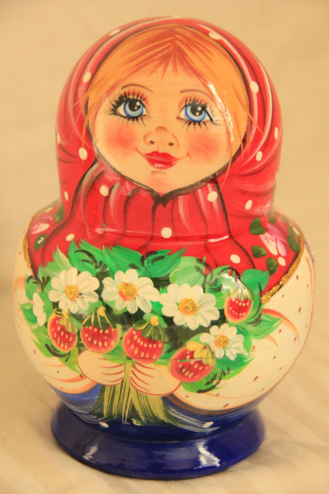 10pc Muñeca Rusa de Anidación Matryoshka Matrioskas pintura de mano mujer Matreshka