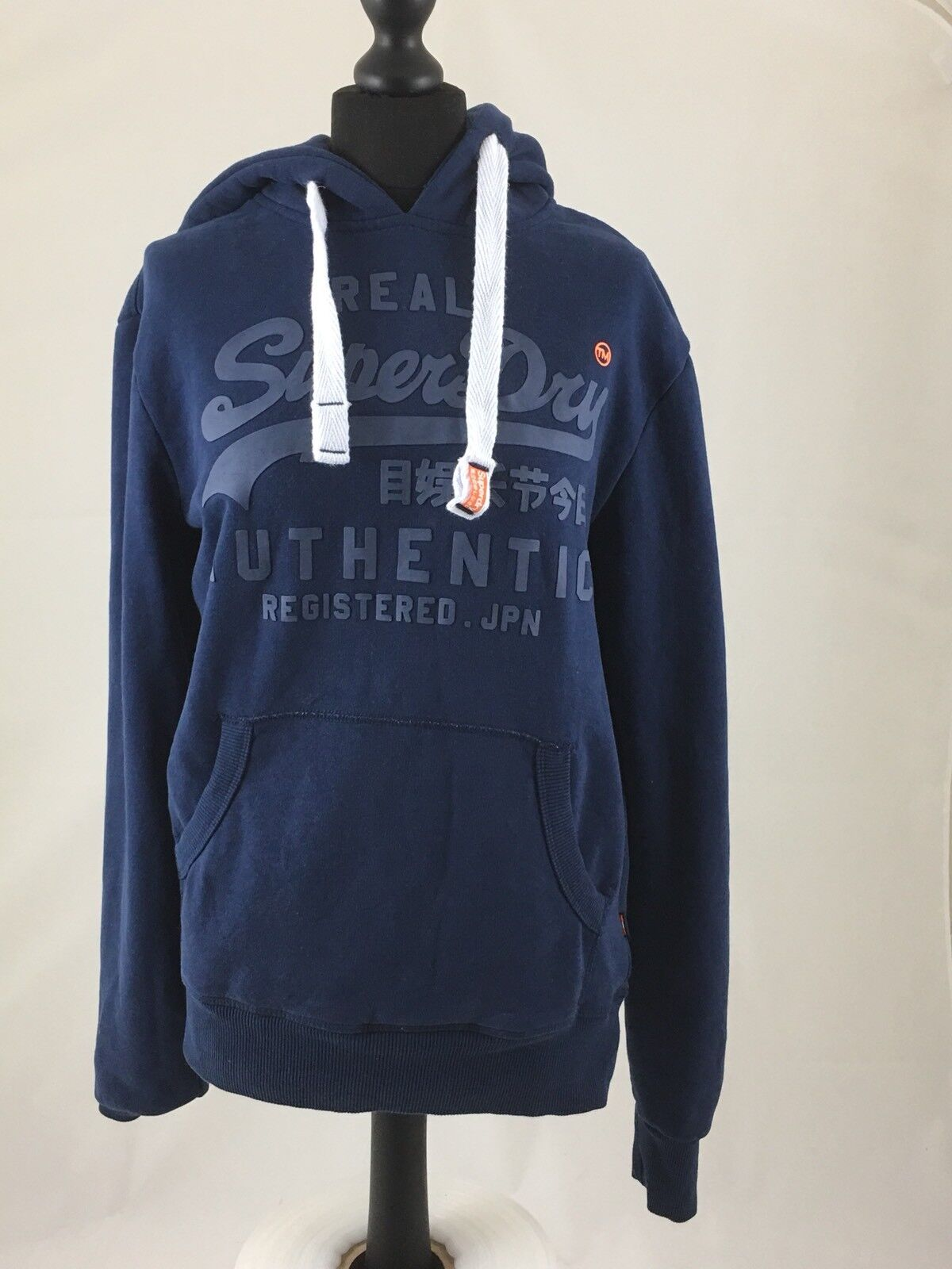 Linea donna Superdry Authentic Blu Con Cappuccio Taglia Small