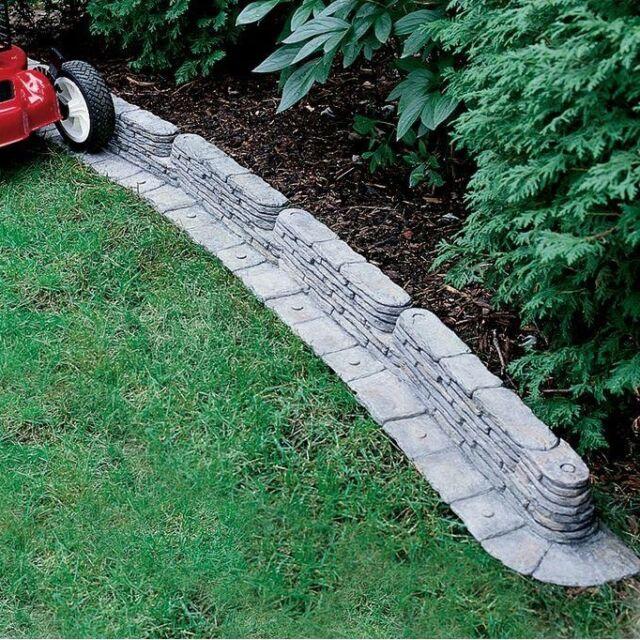 emsco group 2032ds bedrocks trimfree resin lawn edging ebay