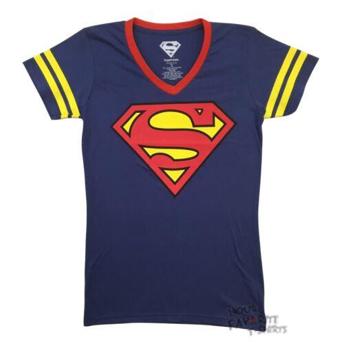 Superman Symbol DC Comics Jersey V Neck Junior T Shirt