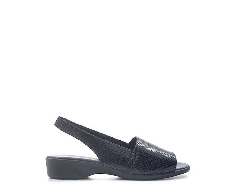 Chaussures SAYDO BASIC Femme noir Cuir naturel,Tissu CUSH-FLOW-LIZ-PRINT