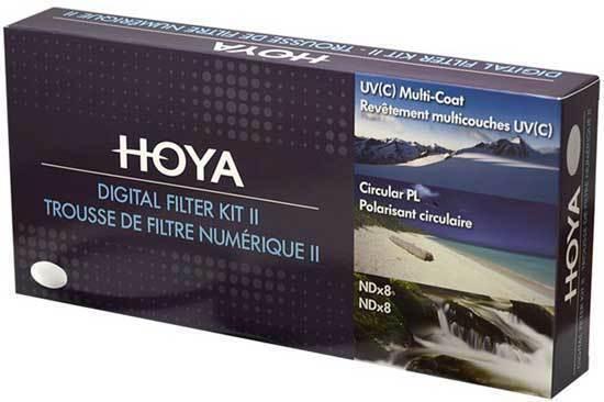 Hoya Digital Filtro Kit II 67mm Polfilter + Filtro ND + Filtro UV +Filtro Funda