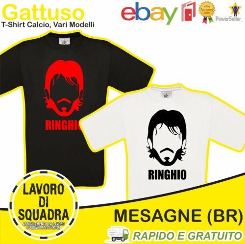 T-shirt Ringhio Gattuso Rino Milan Napoli Pisa Calcio Soccer Serie A Calciatore