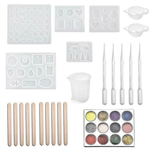 Resin Jewelry Silicone Molds Tools Set Uv Epoxy Resin Moulds Jewelry Making Diy