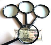 4 Jumbo Magnifying Glasses 4 Glass Lense 4x Power