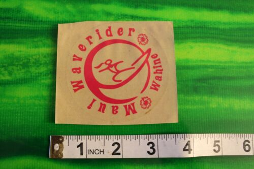 Waverider Maui Wahine Girl Hawaii SMALL HIGH END Vintage Surfing Decal STICKER
