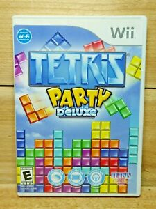 Tetris Party Deluxe (Nintendo Wii, 2010) Complete Multiplayer Party Game Tested