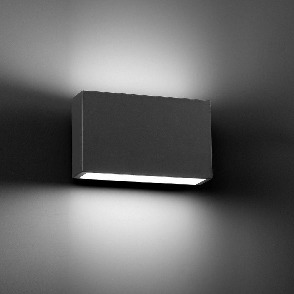 LED Luz de Parojo Exterior Tane 6w 3000k Ip44 gris Oscuro