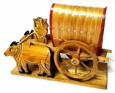 WOODEN HANDCRAFTED - ANTIQUE SHOWPIECE - BULLOCK CART - HOME DECOR - GIFT ITEMS