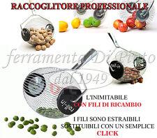 CESTELLO RULLO ROLL-IN RACCOLTA RACCOGLI FRUTT NOCI CASTAGNE PRUGNE PALLINE GOLF