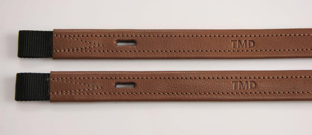 80cm DRESSAGE STIRRUP LEATHERS TMD T-bar / non-stretch calfskin TOP TOP calfskin  Braun e4df2c