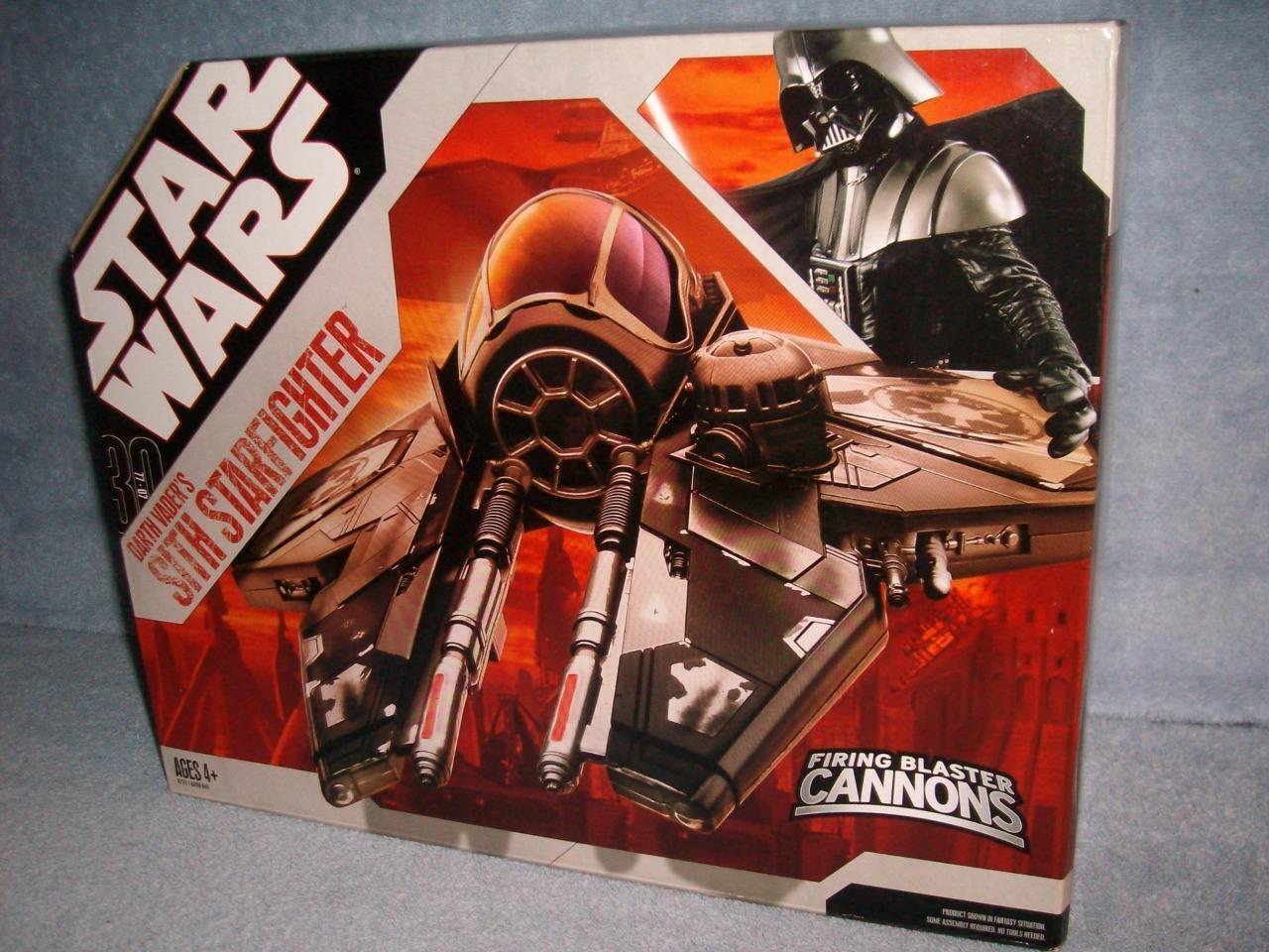Darth Vader Negro Sith Estrellafighter 30th disparando cañones blaster 77-07 nuevo 2006