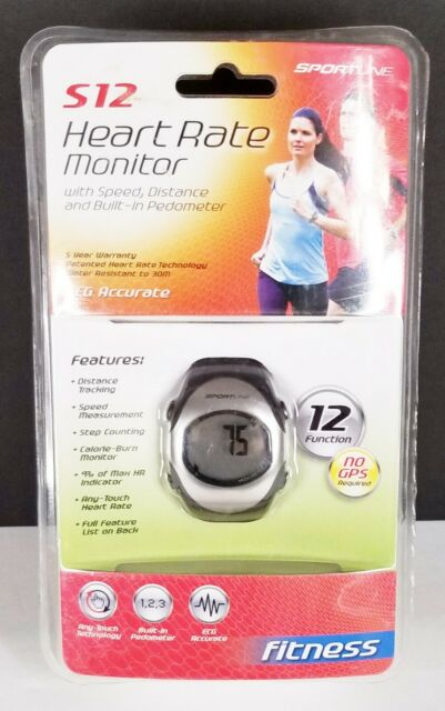 Sportline S12 Heart Rate Monitor + Pedometer Watch New Sealed 12 function