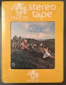 Sealed-ORQUESTA-NATER-s-t-LATIN-LP-8-TRACK-CASSETTE-INCA-SALSA-DURA-GUAGUANCO