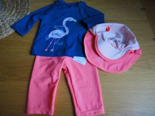 M/&S Girls Rash Vest Outfit UV Sun Safe Suit 12-18 Months BNWT FREEPOST