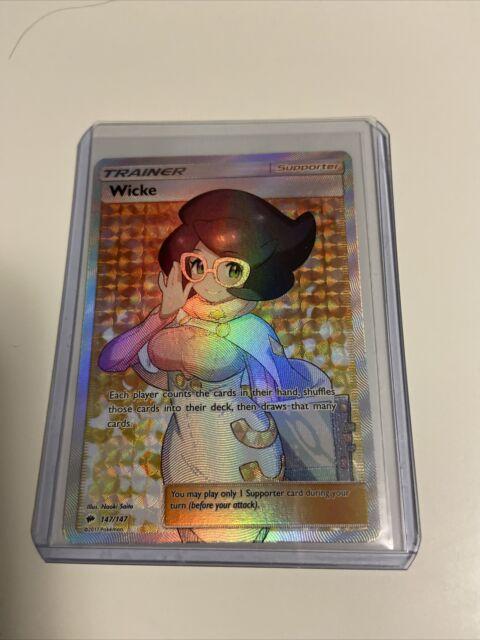 2017 Pokemon Burning Shadows Trainer Wicke Full Art Ultra Rare NM-Mint