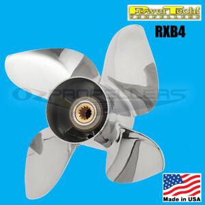 Honda-Stainless-Prop-60-130hp-Power-Tech-RXB4-Propeller-4-Blade-13-1-4-x-16