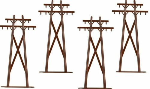 Lionel 6-22356 O High Tension Poles Pack of 4