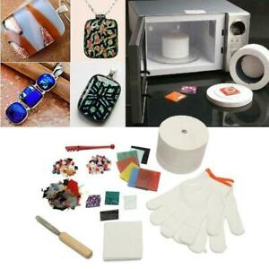 10Pcs-Pro-Stained-Glass-Fusing-Supplies-Microwave-Kiln-Kit-DIY-Jewelry-Tool