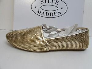 fbf7c0d5824 Steve Madden Size 7.5 M Gold Loafers New Womens Shoes